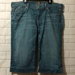 7 for All Mankind Light Wash Dojo Long Shorts